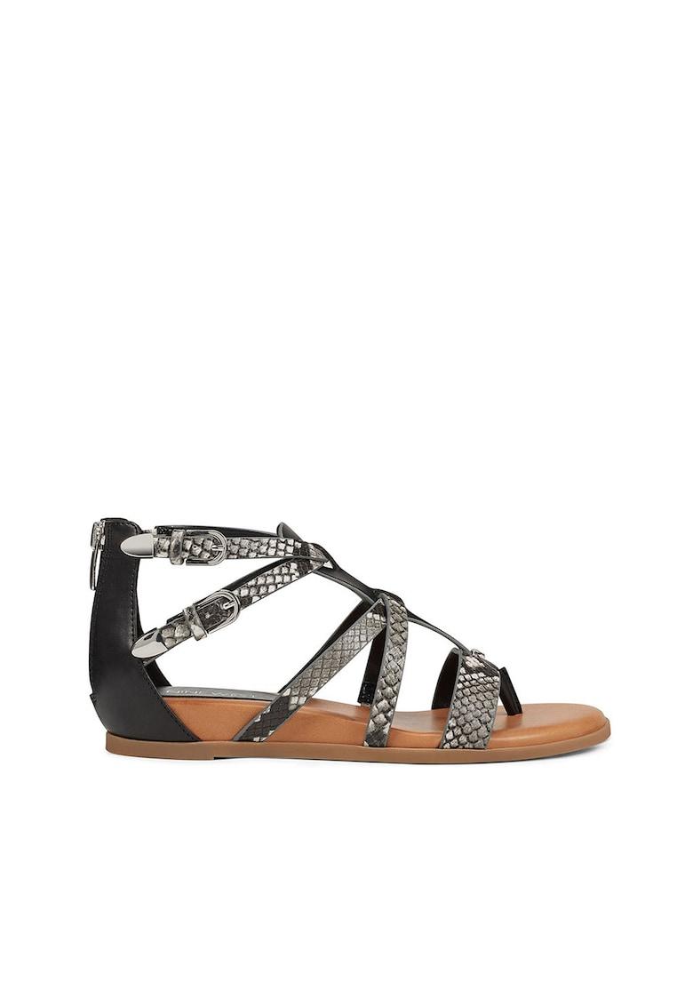 Sandale de piele ecologica cu barete multiple Caila imagine fashiondays.ro