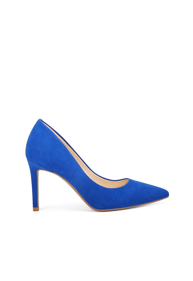 Pantofi stiletto de piele ecologica - cu varf ascutit Etta