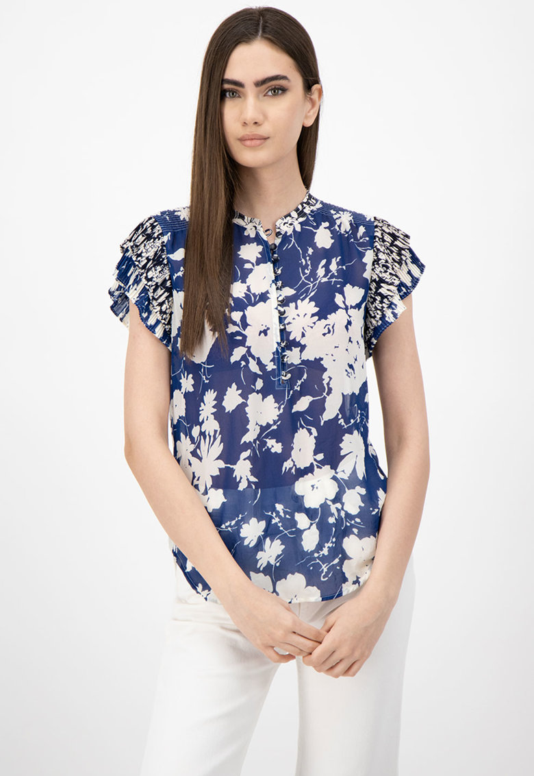 Bluza semitransparenta cu imprimeu floral imagine