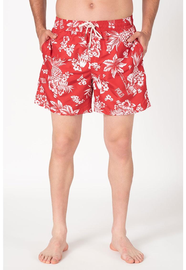 Pantaloni scurti de baie cu imprimeu tropical imagine