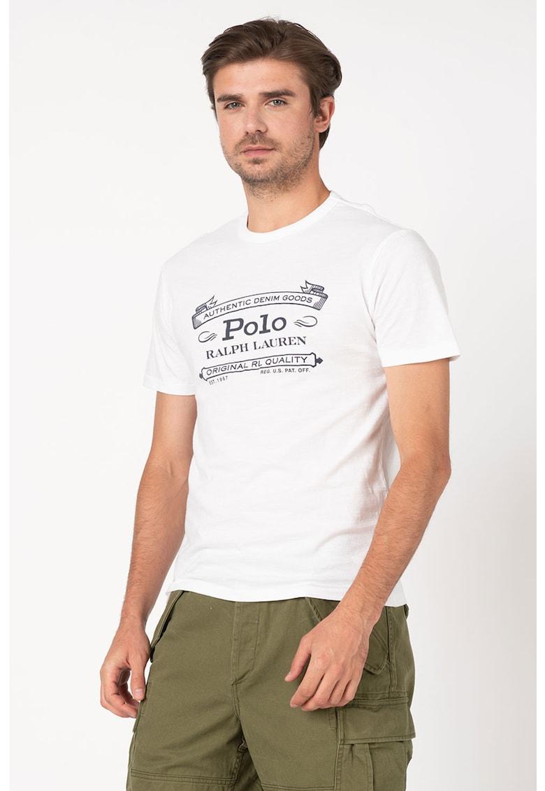 Tricou slim fit cu imprimeu logo de la Polo Ralph Lauren