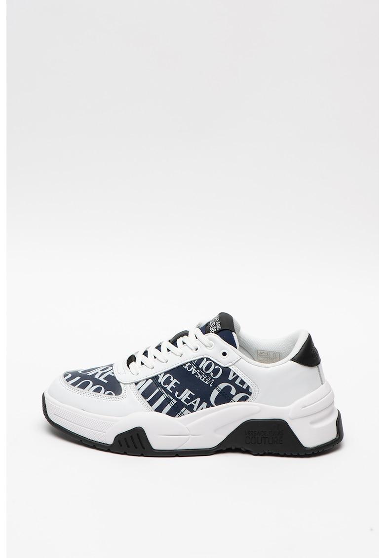 Pantofi sport de piele cu varf rotunjit