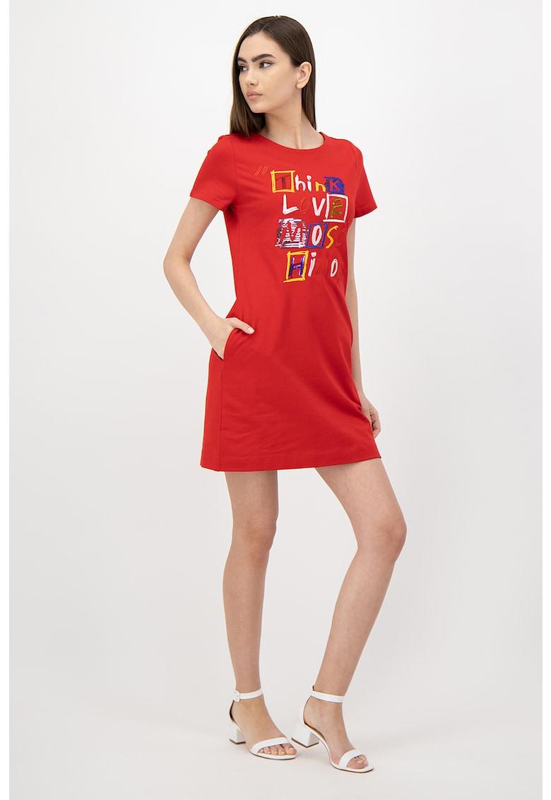 Rochie mini tip tricou cu buzunare