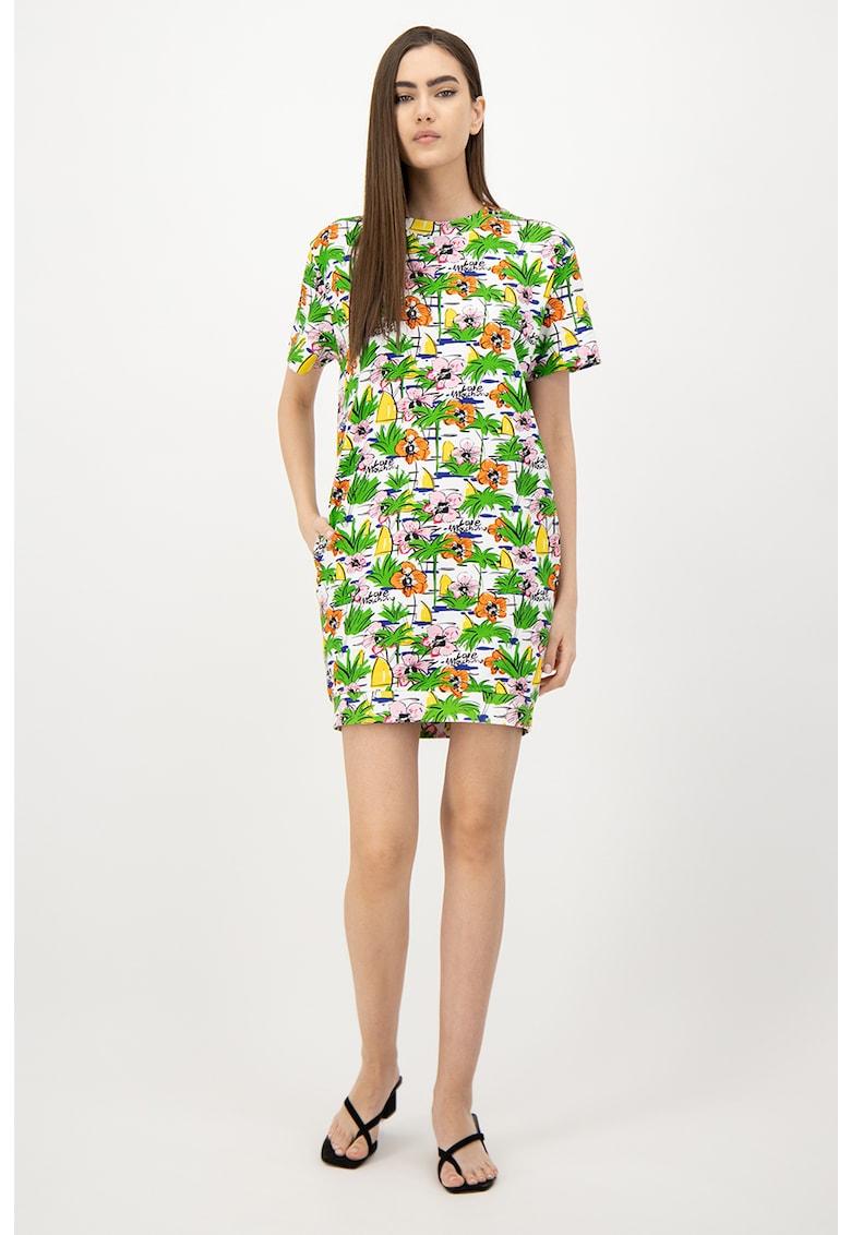 Rochie mini cu imprimeu tropical