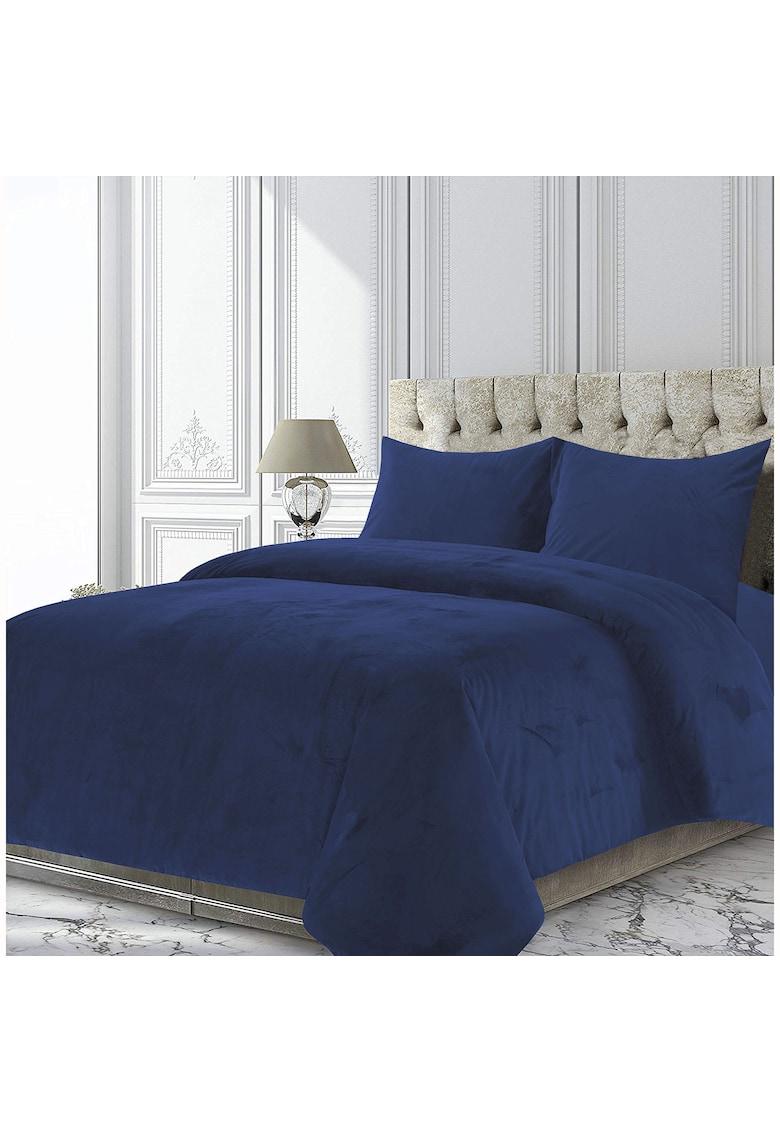 Heinner Home Set Cuvertura si 2 fete de perna  King Size - catifea 200gsm - cuvertura 200x220 - fata de perna 50x70