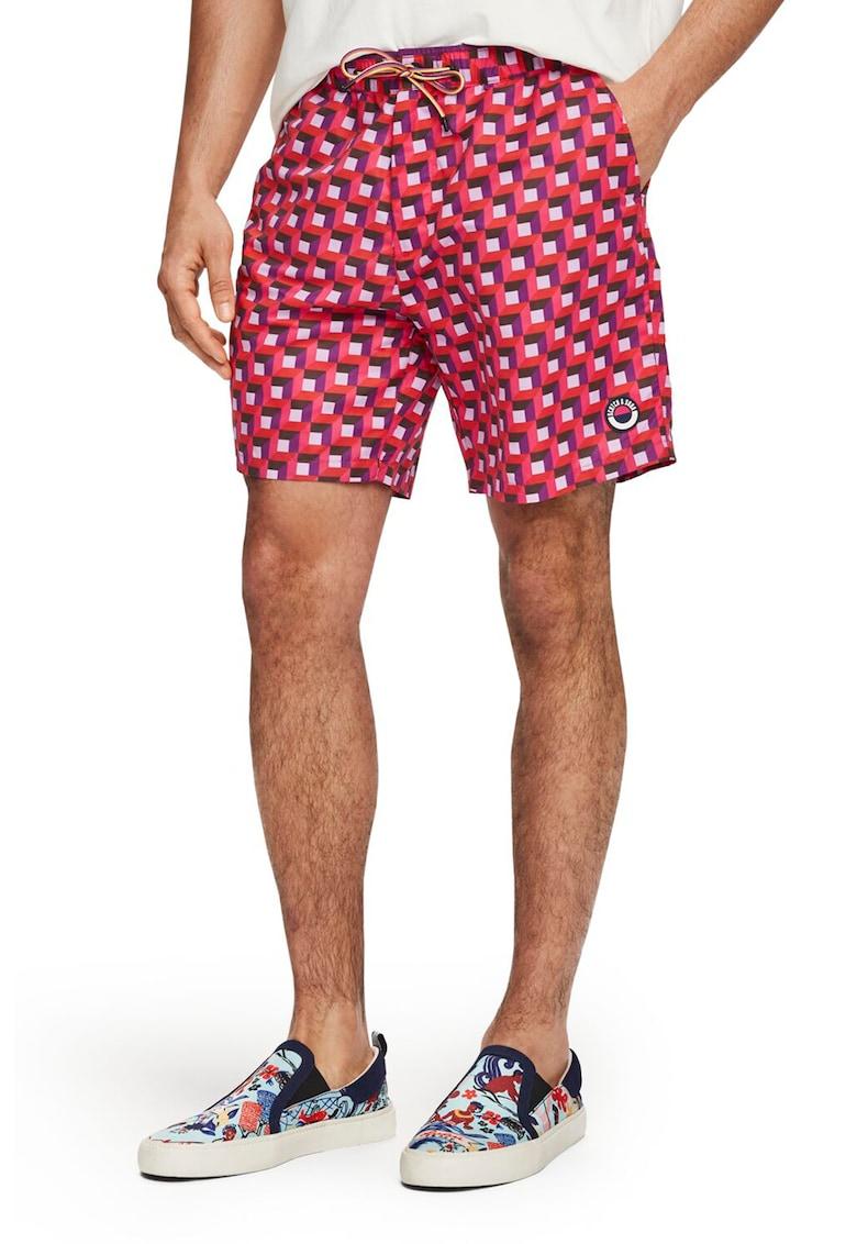 Pantaloni scurti cu model geometric - pentru inot imagine