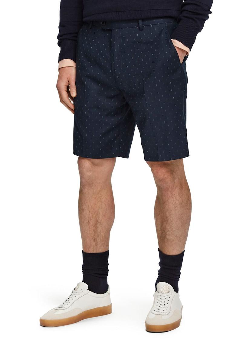 Pantaloni scurti tip bermude cu imprimeu geometric discret