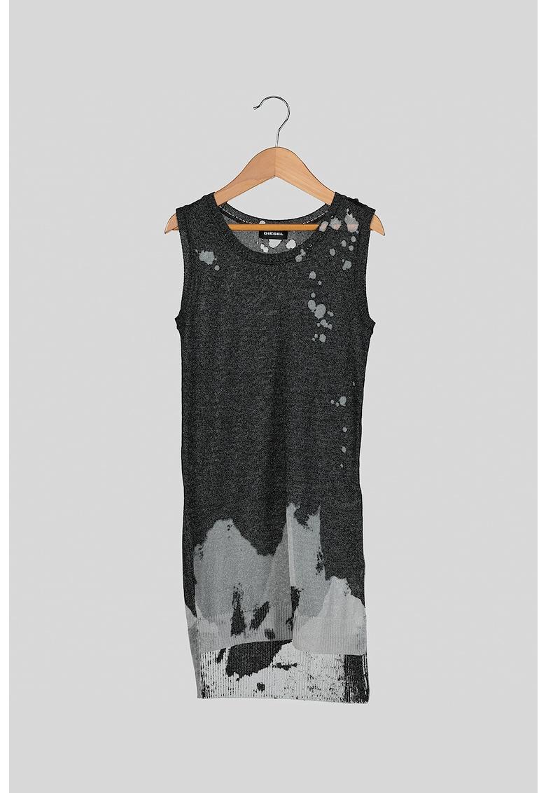 Rochie din tricot fin cu terminatie asimetrica