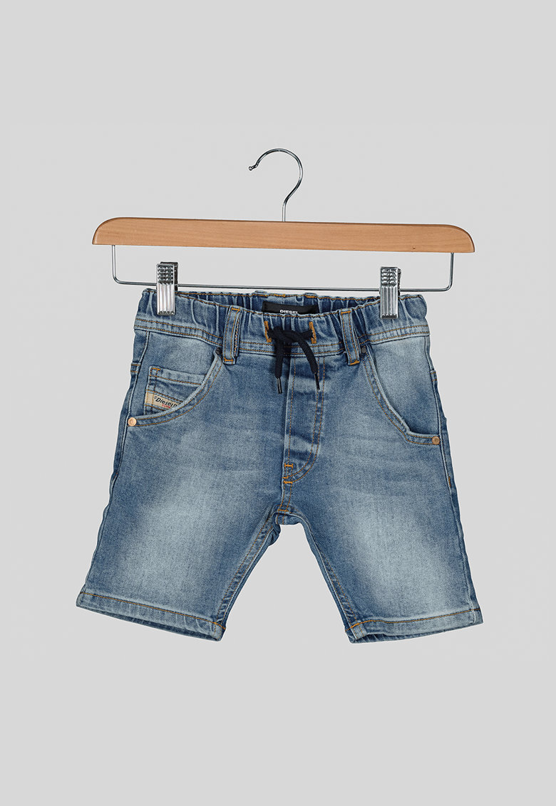 Pantaloni scurti de denim cu snur in talie imagine fashiondays.ro 2021