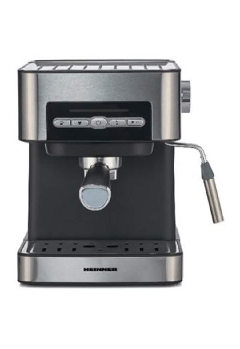Espressor semi-automat - 20 bar - 850W - 20 bar - rezervor apa detasabil 1.6l - optiuni presetate pentru espresso lung/scurt - filtru din inox - plita pentru mentinere cafea calda - decoaratii inox