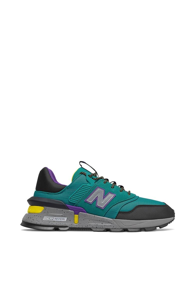 Pantofi sport cu model colorblock 997 imagine