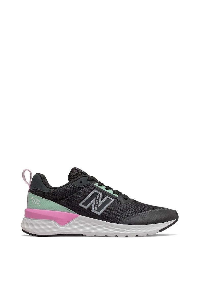 Pantofi sport de piele ecologica si plasa 515