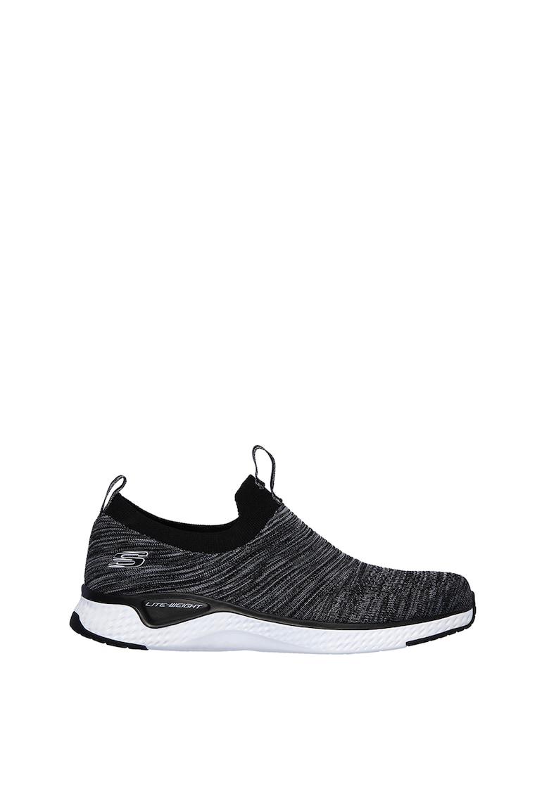 Pantofi sport slip-on de plasa cu aspect tricotat Solar Fuse