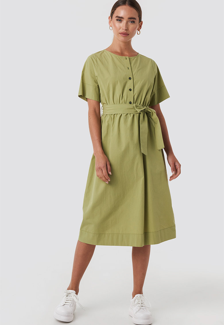 Rochie midi cu cordon in talie poza fashiondays