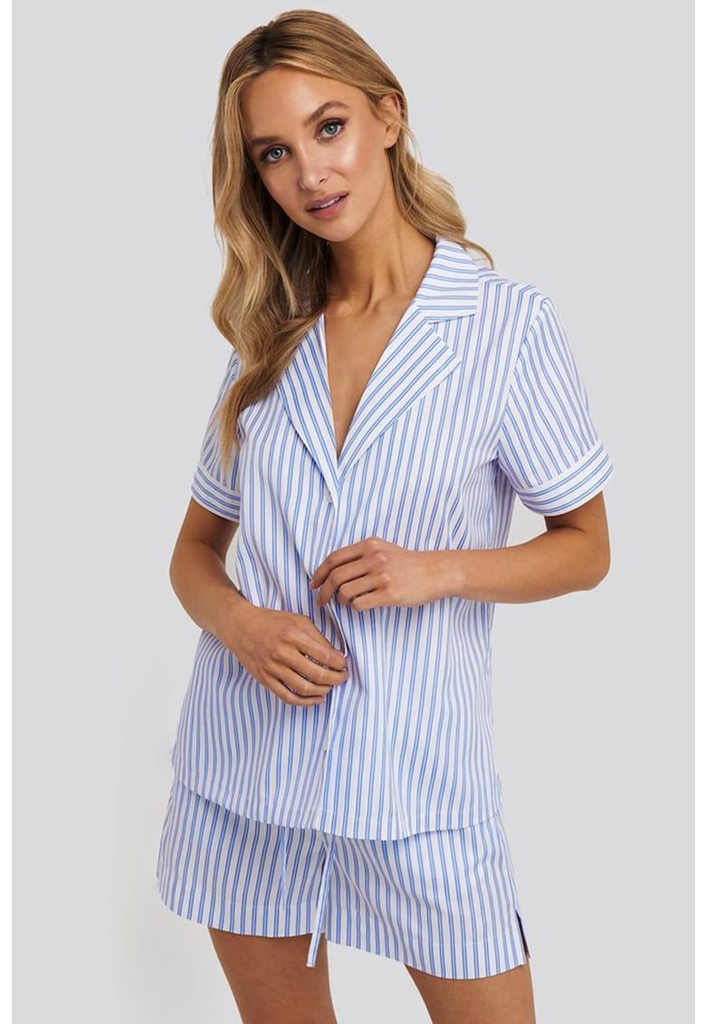 Camasa de pijama - din bumbac - cu revere