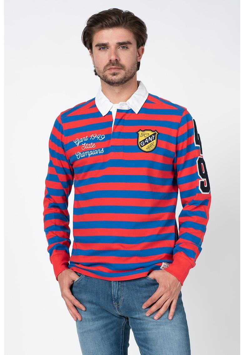 Bluza polo cu model in dungi