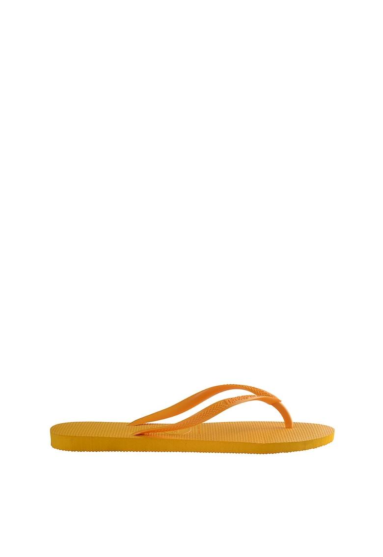 Papuci flip-flop cu logo in relief Slim