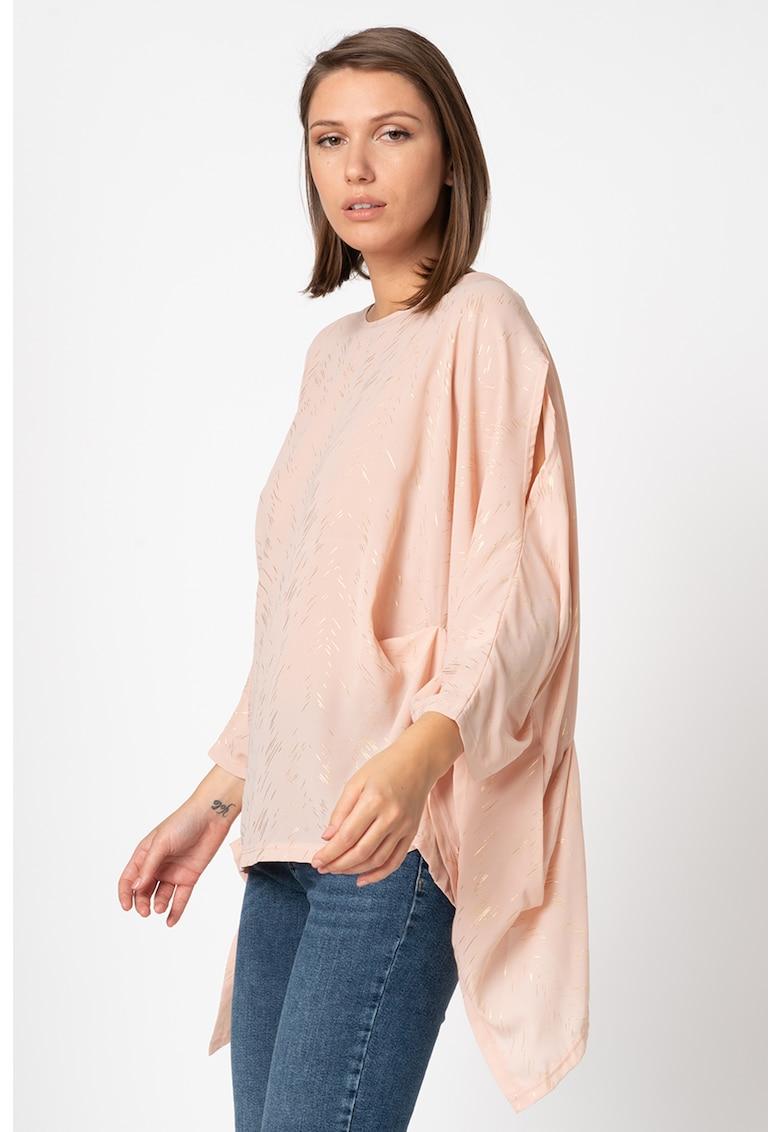 Bluza lejera cu insertii de fire stralucitoare imagine