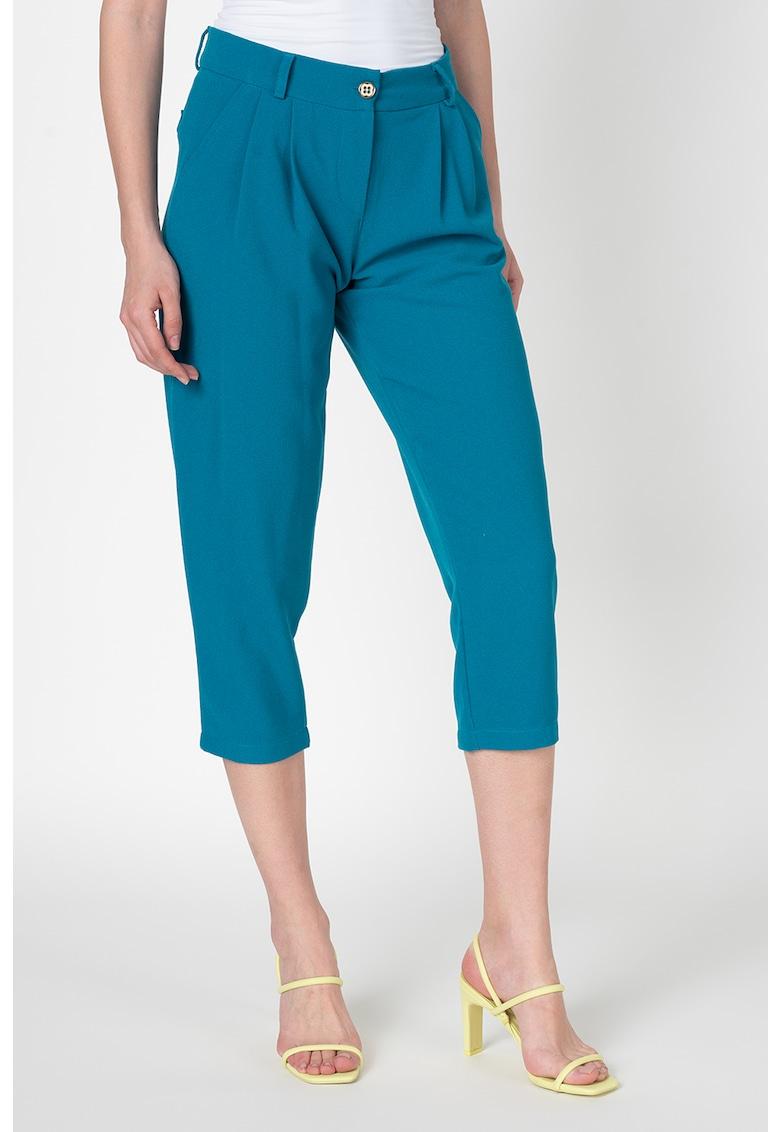 Pantaloni 3/4 cu croiala conica