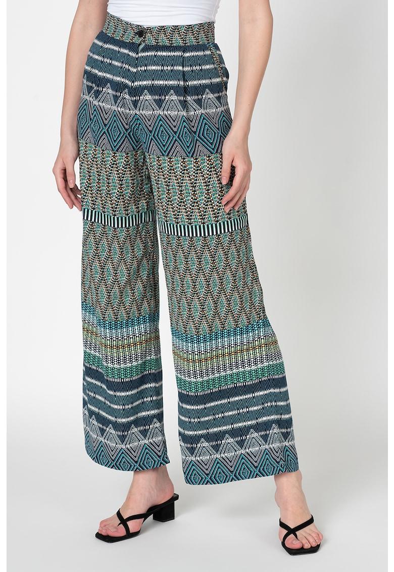 Pantaloni cu croiala ampla si imprimeu tribal de la Antonia M