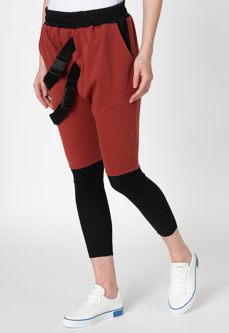 Pantaloni sport cu catarame imagine fashiondays.ro