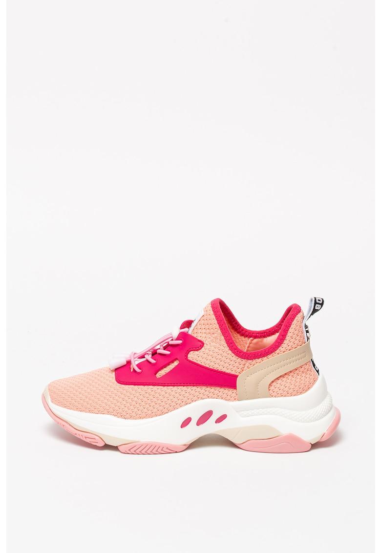 Pantofi sport slip-on cu detalii de piele ecologica Match