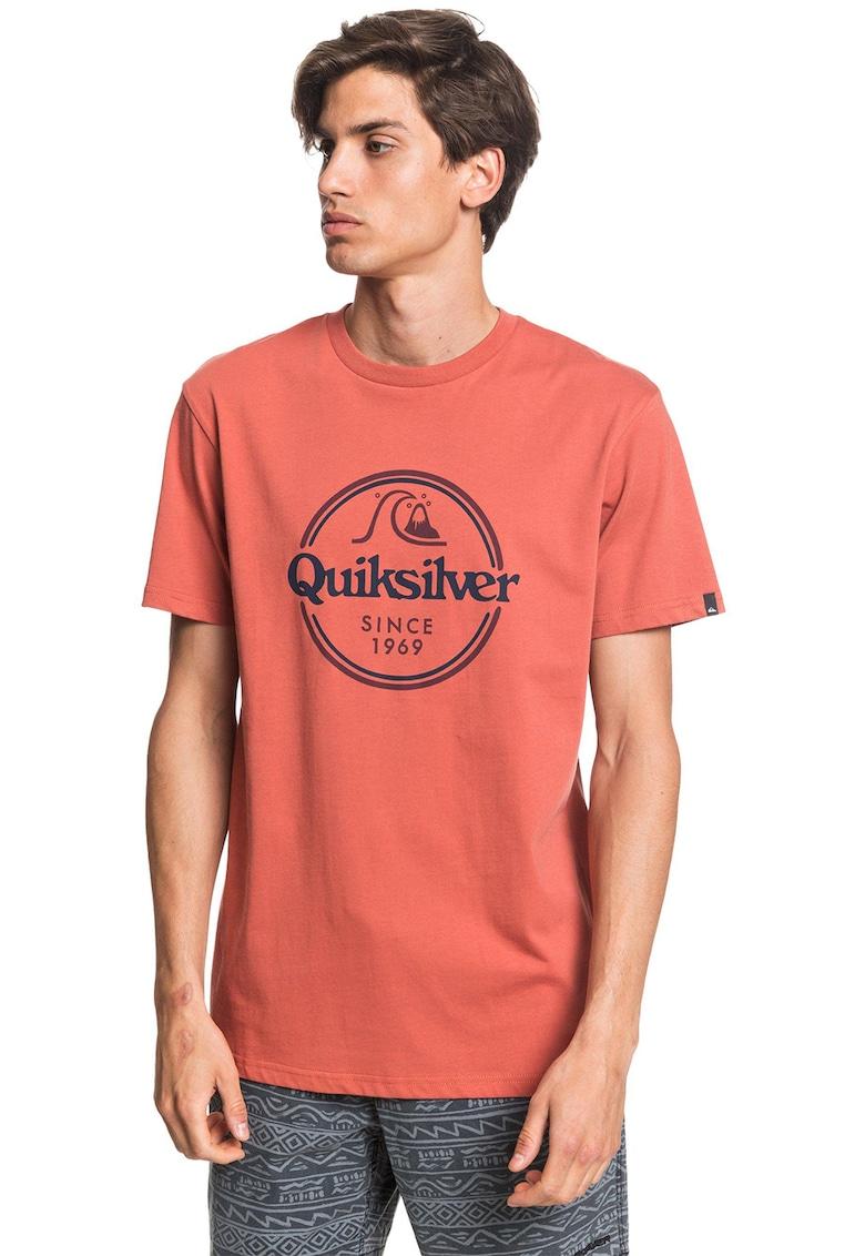 Tricou cu decolteu la baza gatului si logo imagine