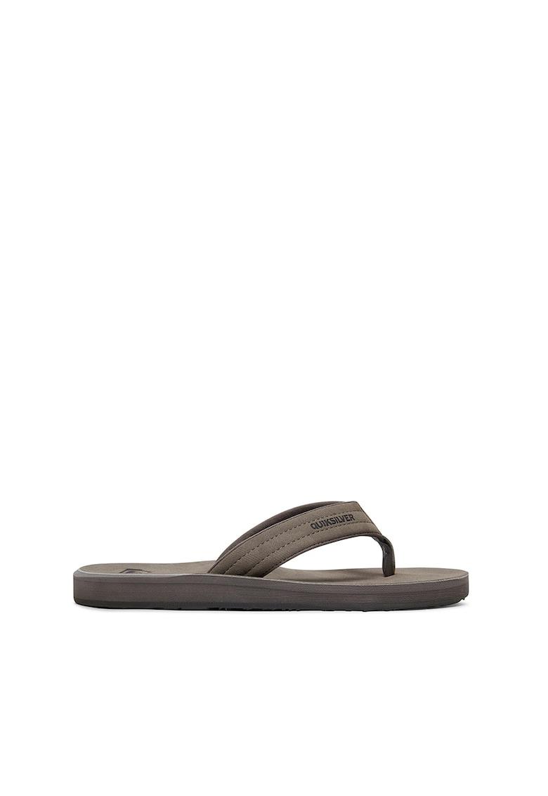 Papuci flip-flop cu model logo Carver