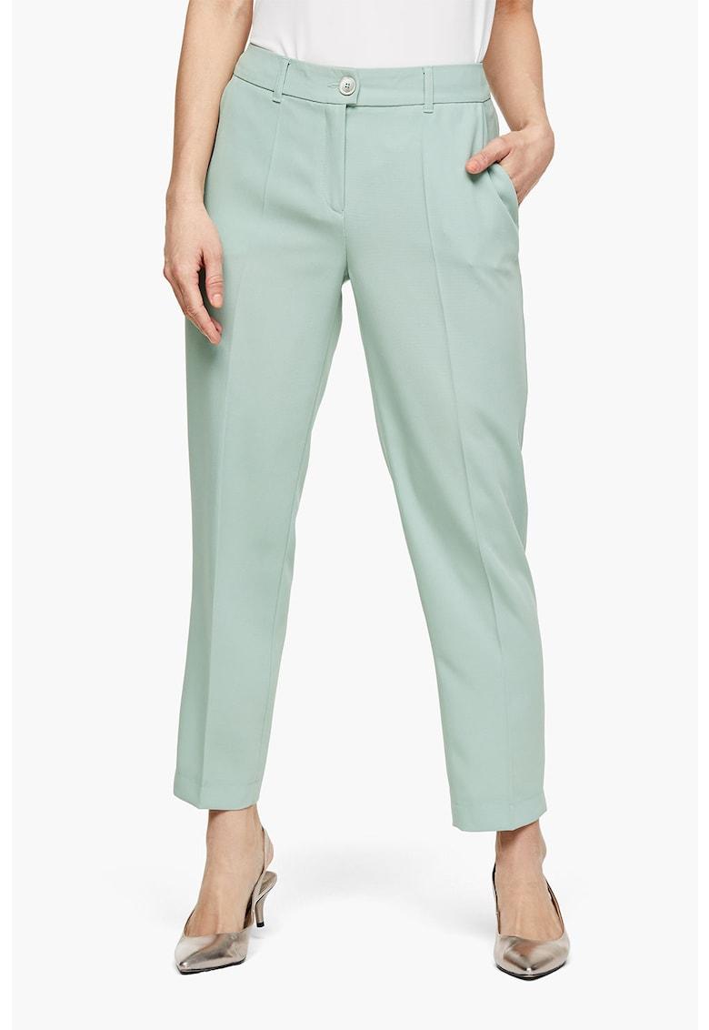 Pantaloni conici cu talie medie