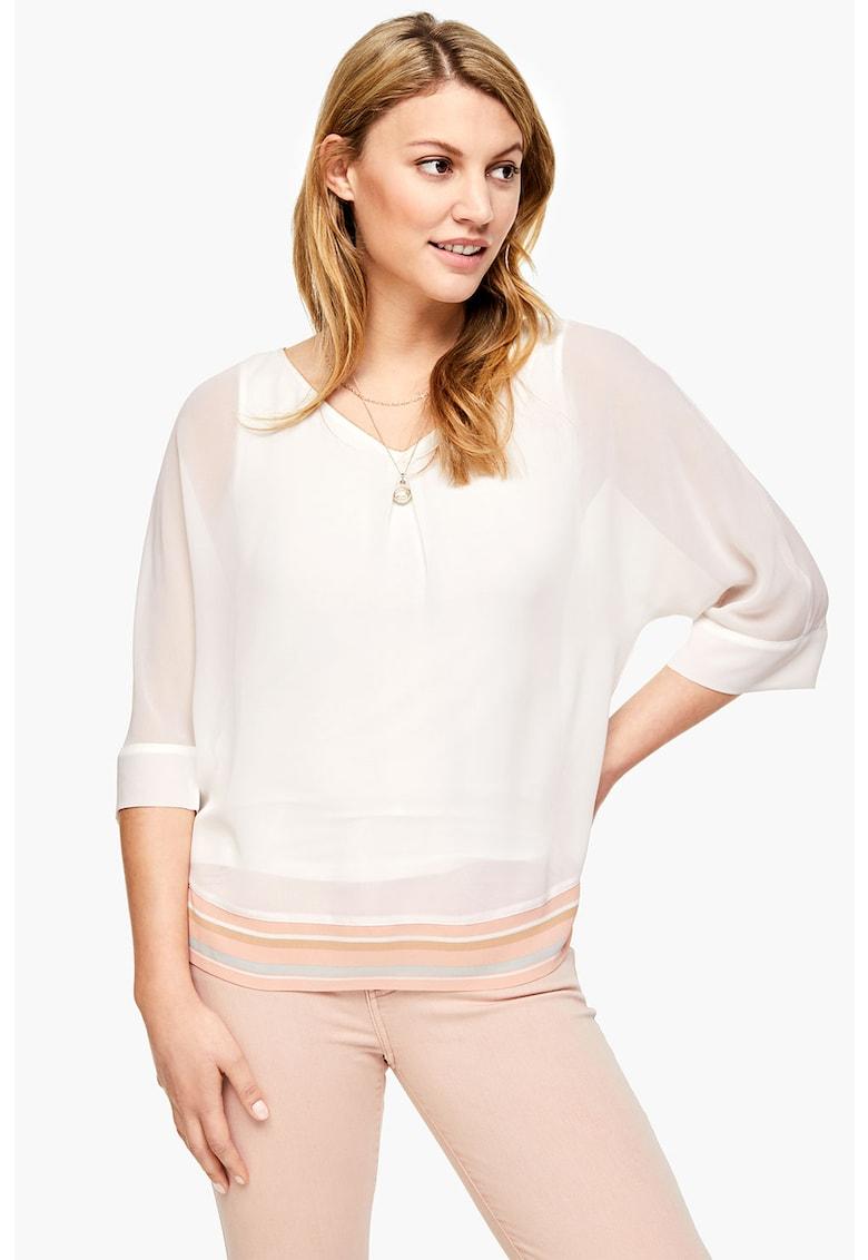 Bluza vaporoasa cu maneci 3/4 poza fashiondays