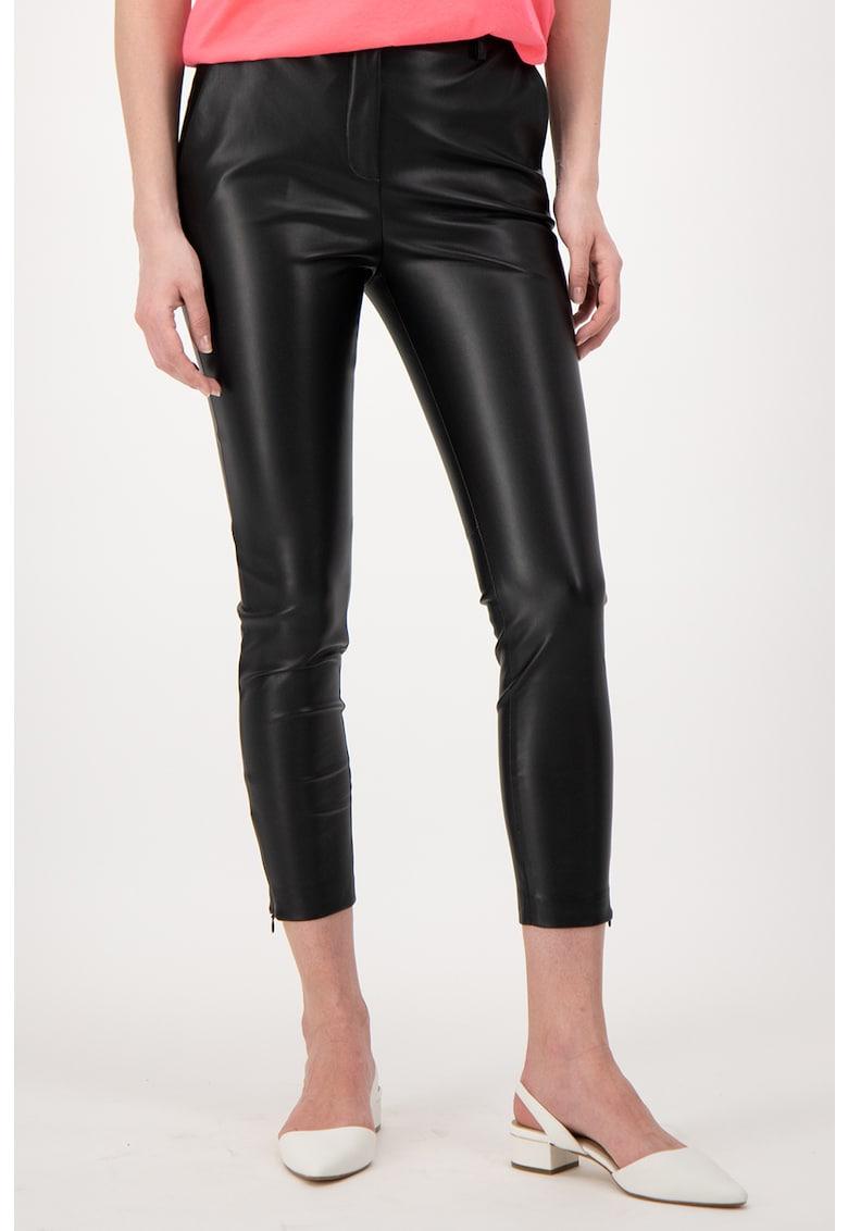 Pantaloni crop de piele ecologica