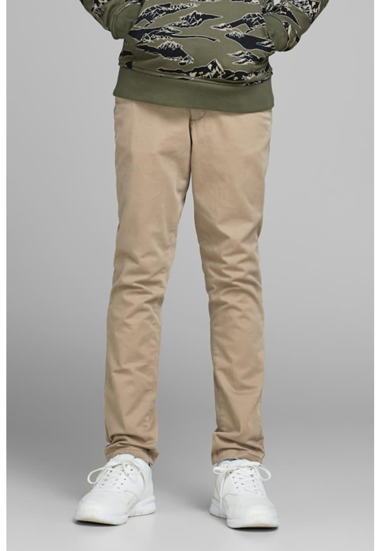 Pantaloni chino cu croiala conica imagine fashiondays.ro
