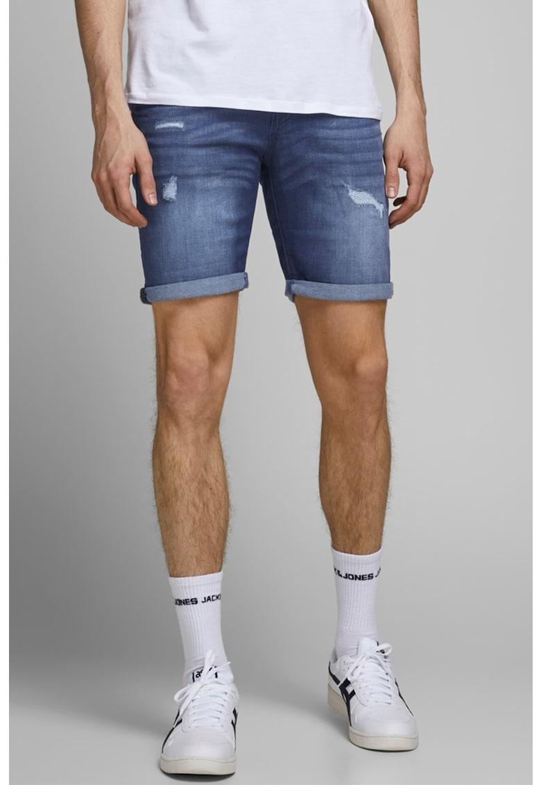 Pantaloni scurti din denim si amestec de lyocell - cu rupturi decorative Rick