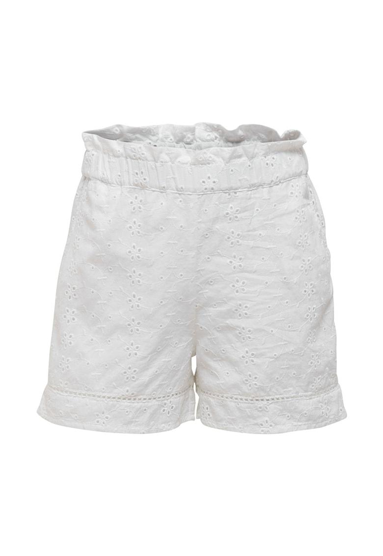Only - Pantaloni scurti din dantela crosetata - cu talie inalta poza fashiondays