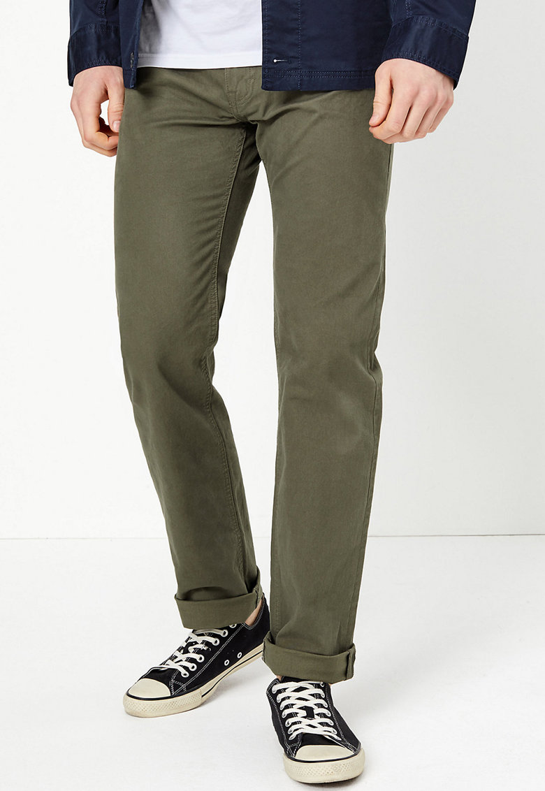 Marks  Spencer Marks and Spencer - Pantaloni drepti cu 5 buzunare