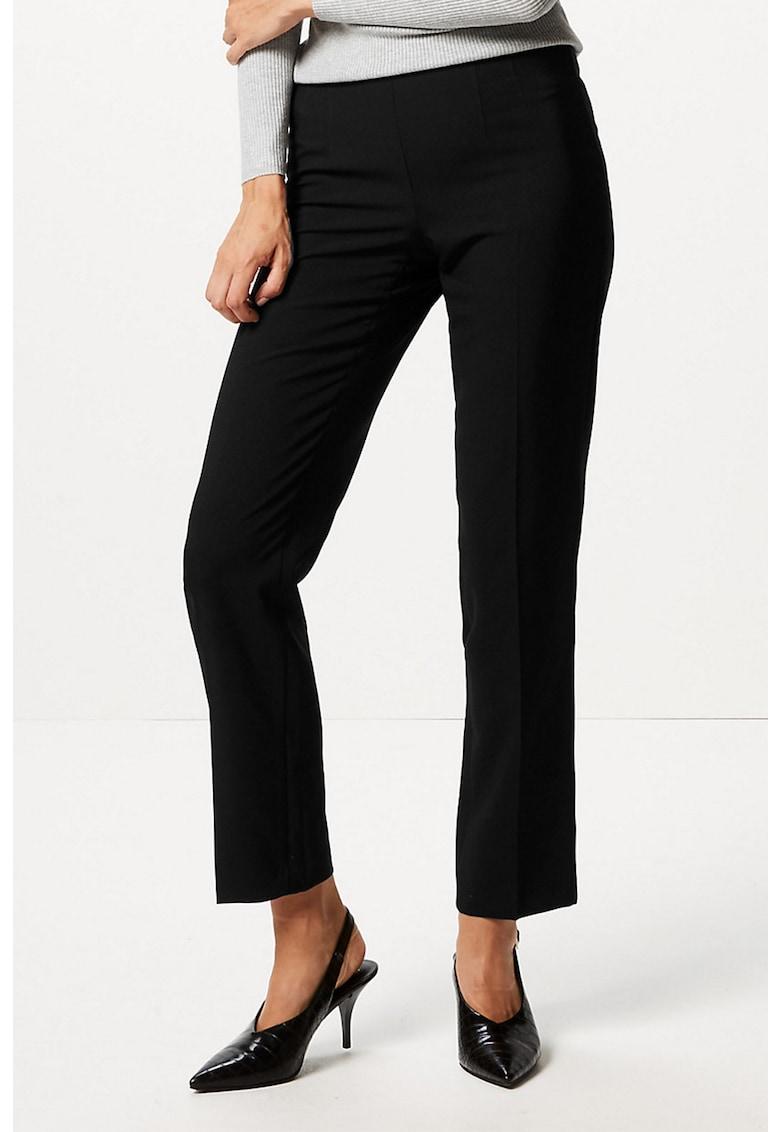 Pantaloni cu croiala dreapta si inchidere laterala cu fermoar