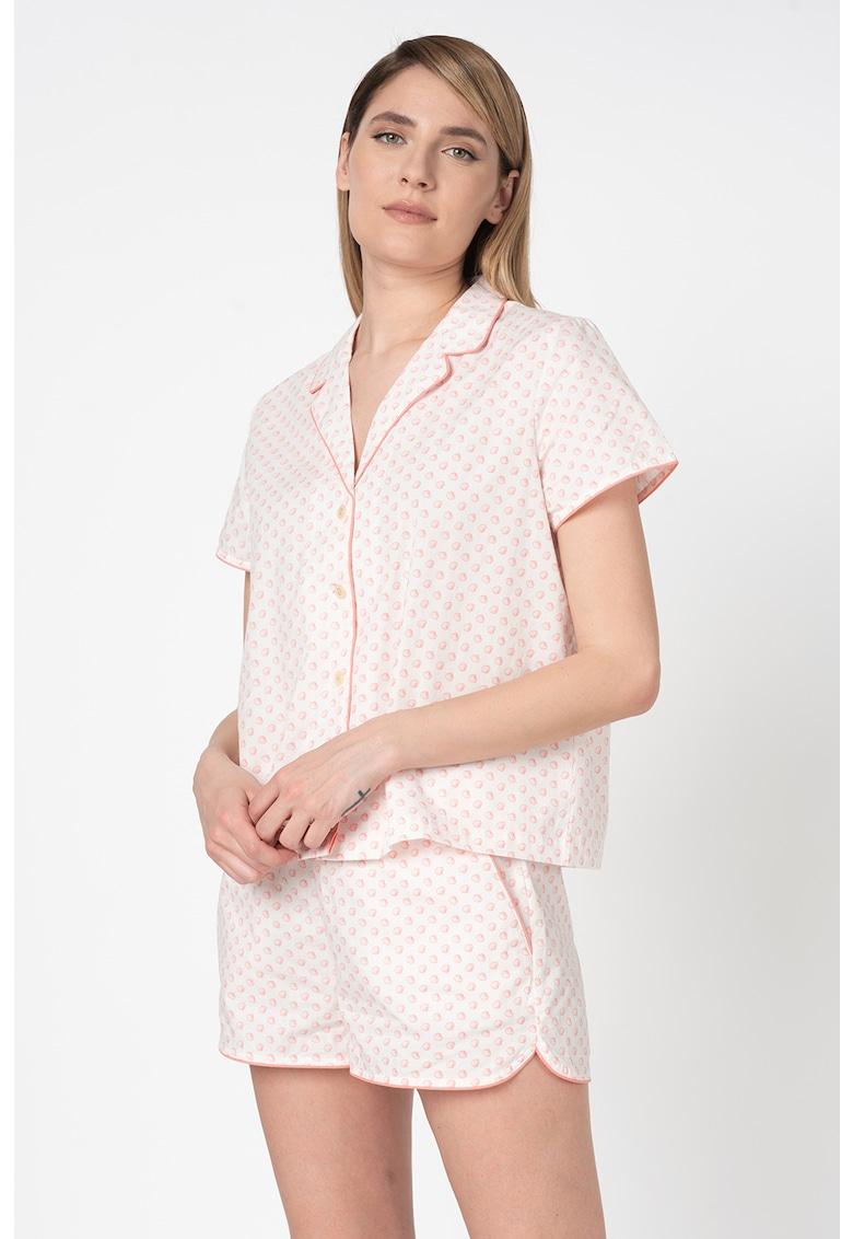 Camasa de pijama cu maneci scurte imagine fashiondays.ro
