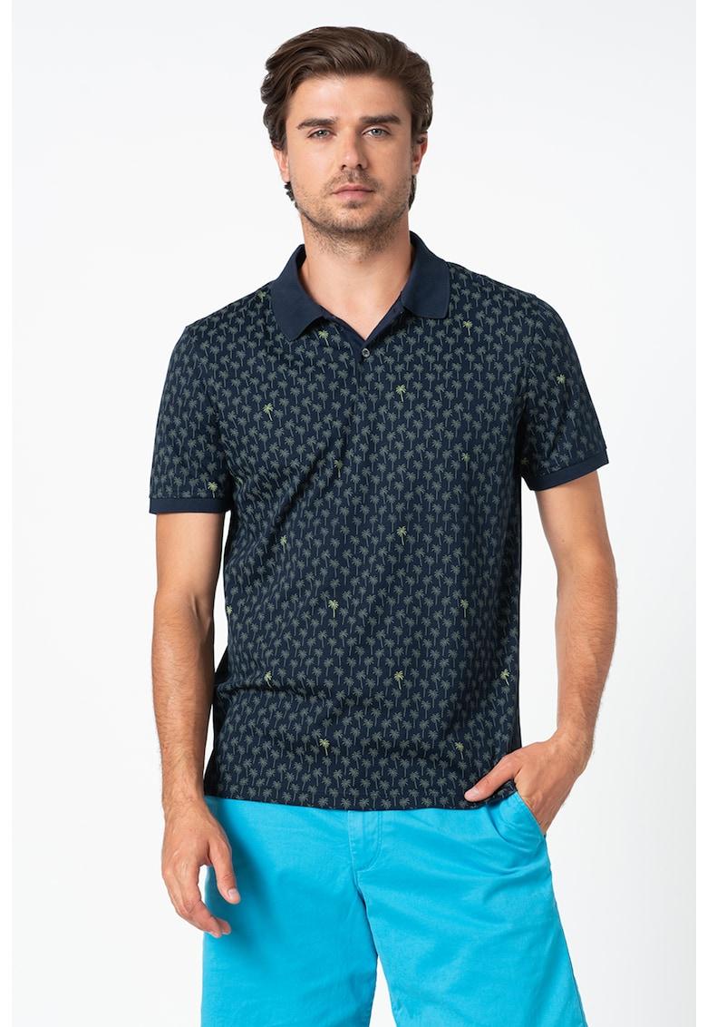 Tricou polo cu imprimeu tropical