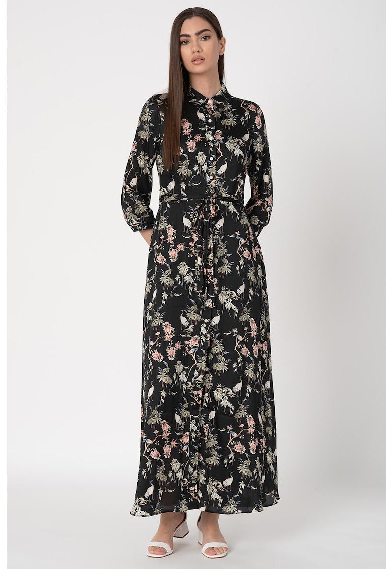 Rochie maxi evazata cu imprimeu floral