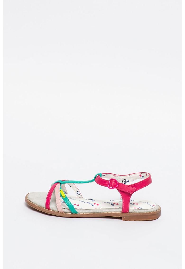 Sandale de piele ecologica - cu barete multiple Elsa imagine