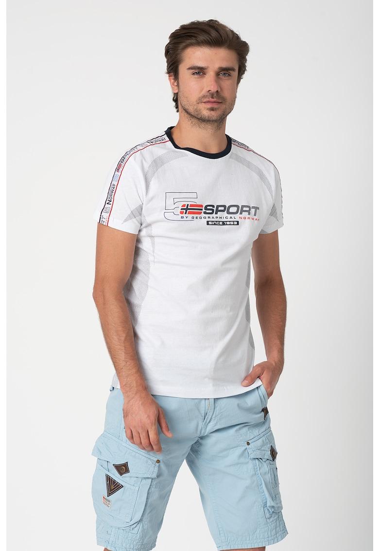 Tricou de bumbac cu imprimeu logo Jartiz fashiondays.ro