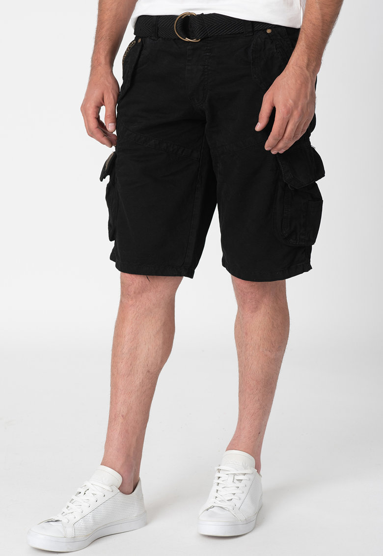 Pantaloni scurti cargo cu curea in talie Pouvoir