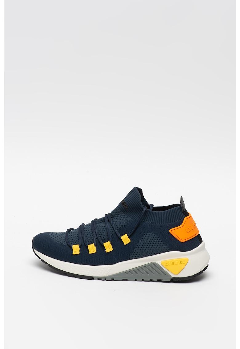 Pantofi sport cu sireturi si constructie tip soseta KB Athl