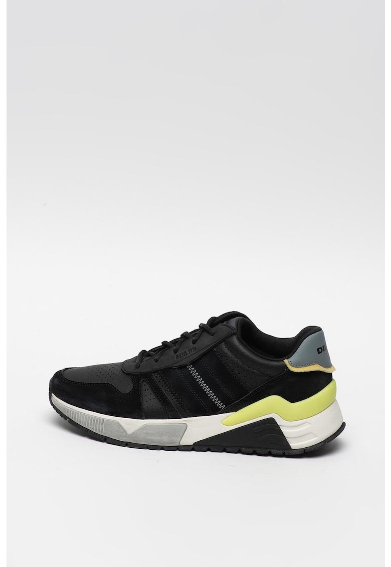 Pantofi sport de piele si piele intoarsa - pentru alergare Brentha Flow