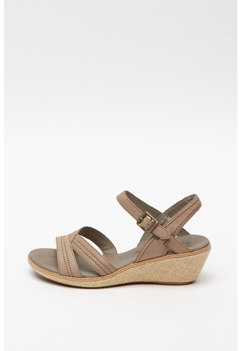 Sandale din piele cu talpa wedge Whittier