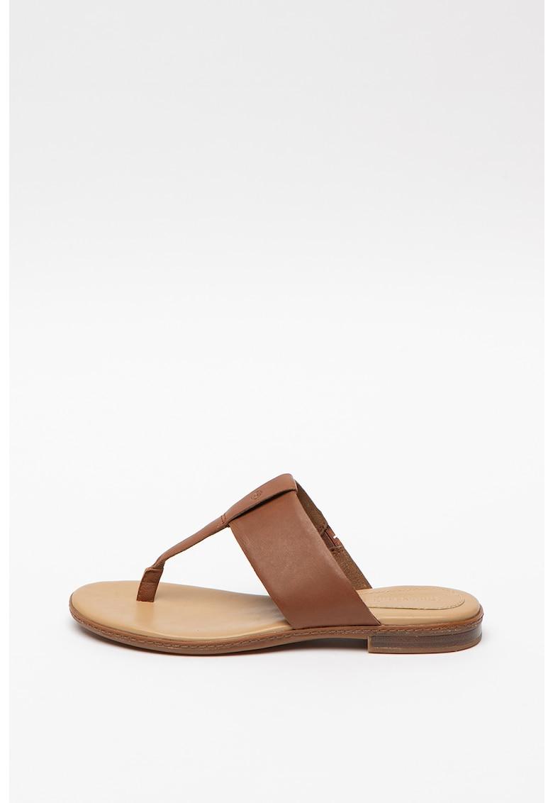 Papuci flip-flop de piele Cherrybrook