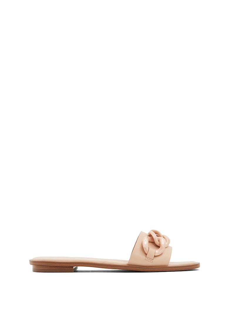 Papuci cu toc - din piele ecologica Jubel