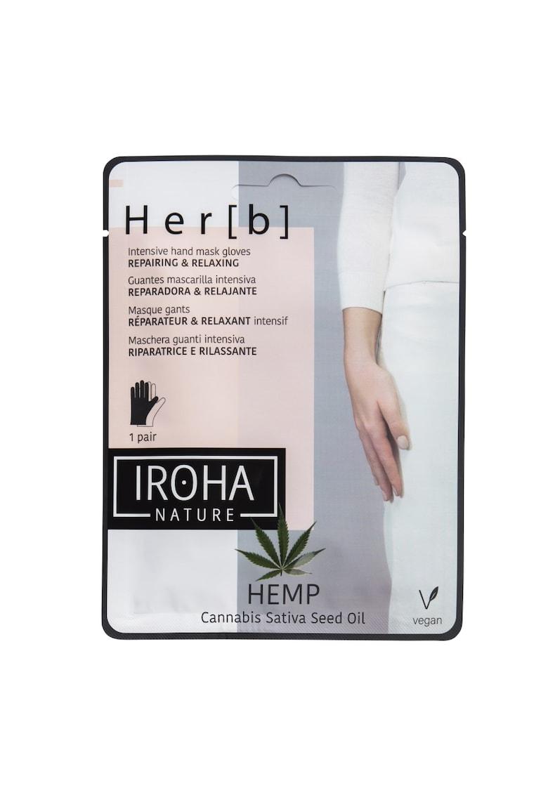Masca pentru maini Iroha cu ulei de cannabis