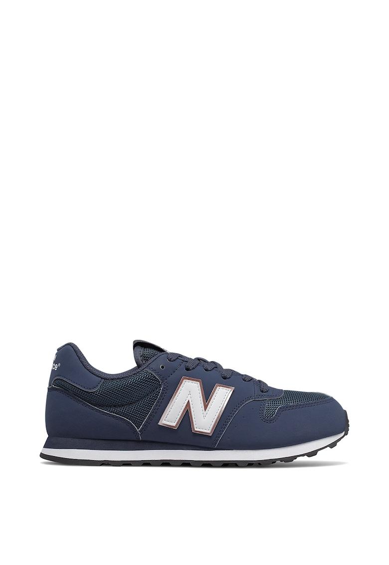 Pantofi sport de piele ecologica cu insertie de plasa 500