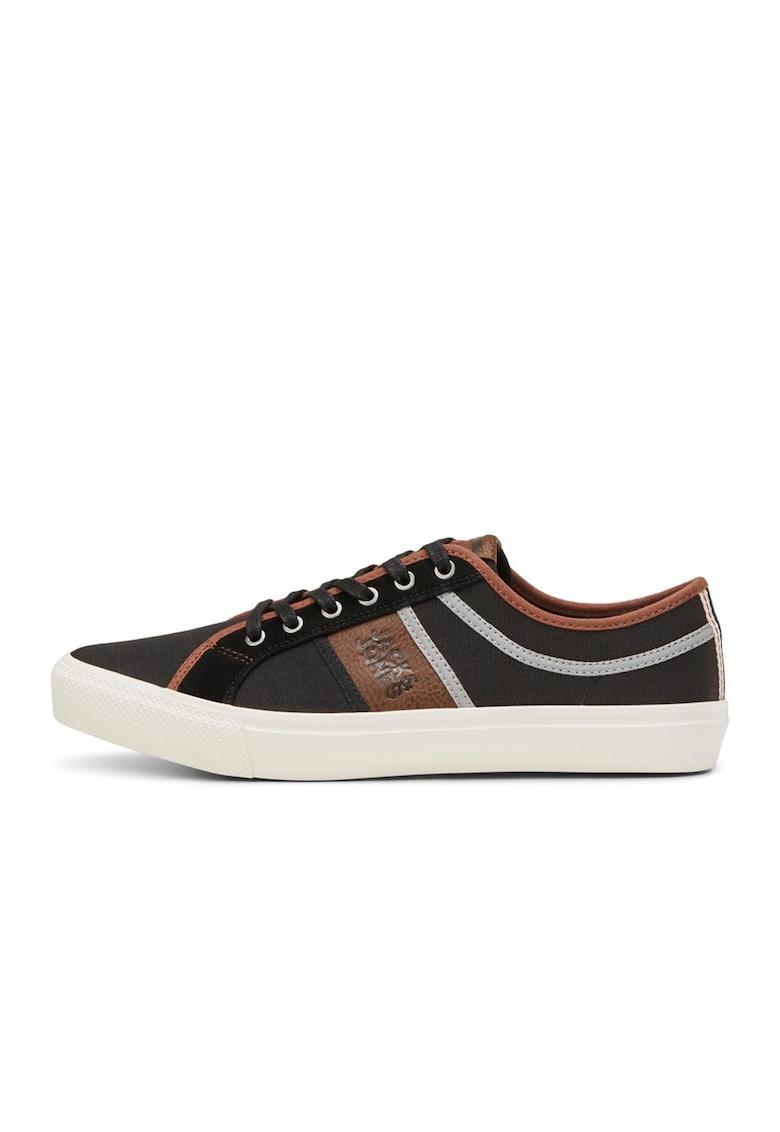 Pantofi sport din panza cu garnituri din piele ecologica imagine fashiondays.ro